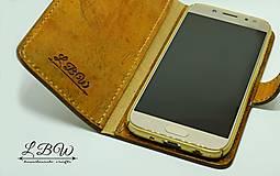 Na mobil - Kožené puzdro na smartfón - 10626064_