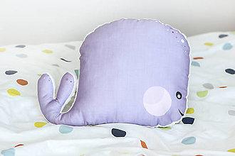 Textil - Vankúš veľryba #rybkaVELE - 10628597_