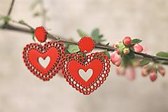 Čipkovance - srdce  (Červená)