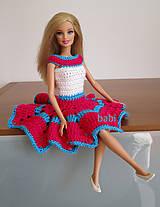 Hračky - Háčkované šaty pre Barbie - 10626569_