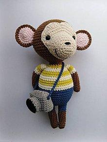 Hračky - Opička Cyprián - 10627107_