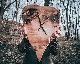 Hodiny - Zub času - Topoľové drevené hodiny - 10628787_