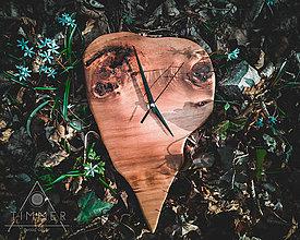 Hodiny - Drevené dekoračné hodiny - Zub času - 10628788_