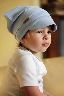 Detské čiapky - Letná pružná šatka jednofarebná - 10626118_