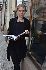 Šaty - Čierno ružové šaty - 10627444_