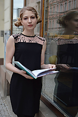 Šaty - Čierno ružové šaty - 10627445_