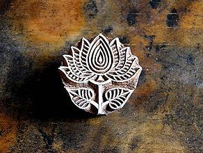 Pomôcky/Nástroje - Drevená pečiatka - indický kvet - 10628529_
