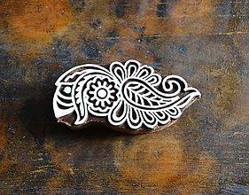 Pomôcky/Nástroje - Drevená pečiatka - kvet zdobený - 10628575_