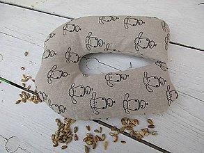 Textil - cestovný vankúš pre deti-ovečka pohánkovo-špaldová - 10625957_