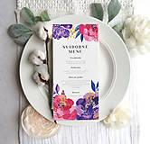 Papiernictvo - Svadobné Menu- Divoké kvety - 10626725_