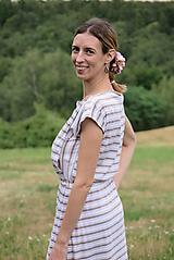 Šaty - Šaty na dojčenie LATTE STRIPES - 10628566_
