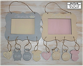 Dekorácie - Rámik na fotku s údajmi o narodení dieťatka :) - 10626913_