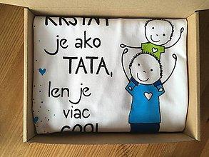 Tričká - Originálne maľované tričko pre KRSTNÚ/ KRSTNÉHO s 2 postavičkami (KRSTNÝ + chlapček 2) - 10628648_