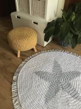 Úžitkový textil - Háčkovaný koberec Hviezda - 10627469_