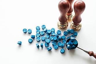 Suroviny - Pečatný vosk - granulát (Modrá) - 10628722_