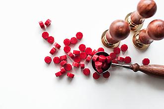 Suroviny - Pečatný vosk - granulát (Červená) - 10628738_