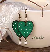 Heart dots // Green