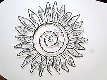 Dekorácie - Slnko pre pani učiteľku  (cca 45 cm) - 10627281_
