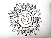 Dekorácie - Slnko pre pani učiteľku  (cca 45 cm) - 10627282_