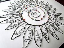 Dekorácie - Slnko pre pani učiteľku  (cca 45 cm) - 10627284_