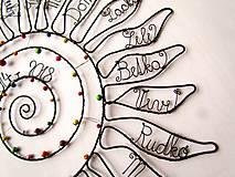 Dekorácie - Slnko pre pani učiteľku  (cca 45 cm) - 10627286_