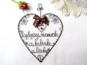 Tabuľky - veľké srdce ♥ 25 cm - 10626558_