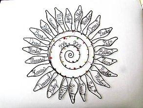Dekorácie - Slnko pre pani učiteľku  (cca 45- 50 cm) - 10627282_