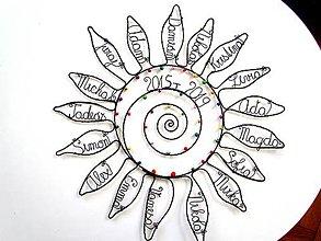 Dekorácie - Slnko pre pani učiteľku  (cca 40 cm) - 10627291_