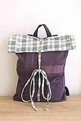 Rolltop fialový batoh