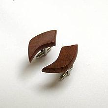 Šperky - Drevené manžetové gombíky  - slivkové kúsky - 10628312_