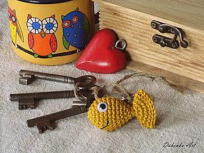 Kľúčenky - Zlatá rybka :) - 10629376_