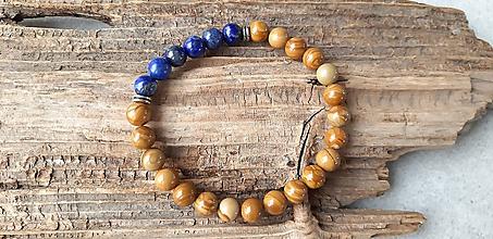 Šperky - Náramok jaspis a lapis lazuli - 10631866_