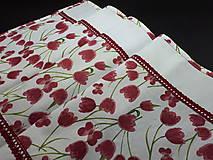 Úžitkový textil - Jarná sada tulipán (Stredový obrus s čipkou) - 10630648_