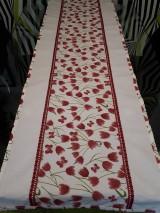 Úžitkový textil - Jarná sada tulipán (Stredový obrus s čipkou) - 10630651_
