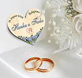 Darčeky pre svadobčanov - Svadobná magnetka - 10630991_