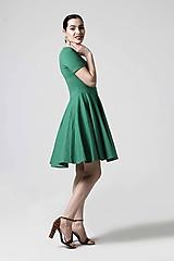 Šaty - Zelené šaty s kruhovou sukňou - 10629313_