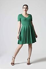 Šaty - Zelené šaty s kruhovou sukňou - 10629314_