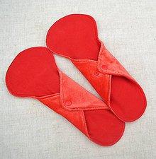 Iné doplnky - Dobrú noc - dámska vložka s PUL vrstvou  (Červená) - 10629448_
