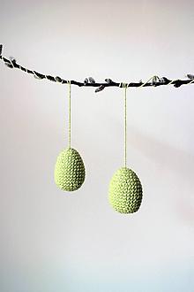 Dekorácie - Veľkonočné háčkované vajíčko na zavesenie   stredné   Zelená svetlá - 10629770_