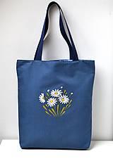 Obojstranná taška - ručne maľovaná -Margaréty