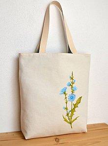 Nákupné tašky - Obojstranná taška - ručne maľovaná -Čakanka - 10629475_