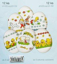Pomôcky/Nástroje - Zmršťovacie košieľky na vajíčka, 12 ks  (detské animované) - 10629287_