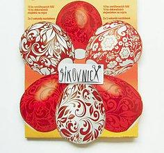 Pomôcky/Nástroje - Zmršťovacie košieľky na vajíčka, 10 ks  (folklórne červené) - 10629367_