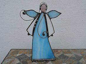 Svietidlá a sviečky - Anjelik s minerálom - svietnik - 10631884_