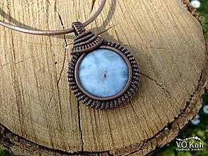 Náhrdelníky - Lorna - larimár, wire wrapping - 10630855_