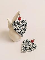 maľované náušnice srdce