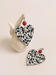 Náušnice - maľované náušnice srdce - 10630100_