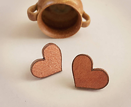 Náušnice - náušnice srdce - 10631361_