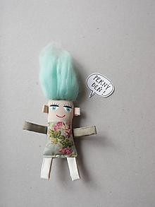 Magnetky - Dievčatko - textilná magnetka - 10629830_