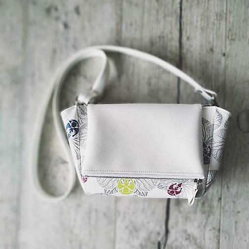 Kabelka CUTE bag - biela so šedou potlačou na tele
